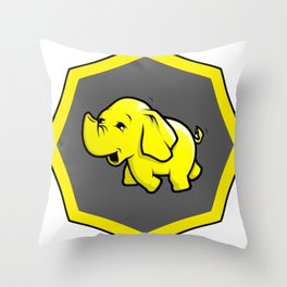 hadoop Stickers Elephant Programming Big data Sql  Developer Throw Pillow
