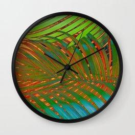 TROPICAL LEAVES POP-ART no4 Wall Clock