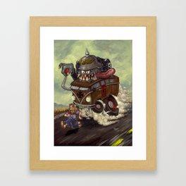 No Hippies! Framed Art Print