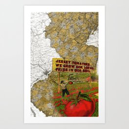 Jersey Tomatoes, We Grow our Pride Art Print