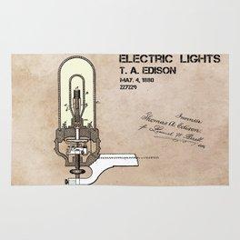 Edison electric light patent Rug