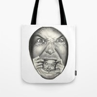 fear Tote Bags featuring Fear by Magdalena Almero