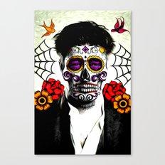 Musician Sugar Skull Painting Canvas Print