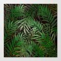 TROPICAL GREEN LEAVES BROWN B. by dessireeartdeco