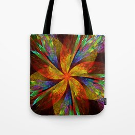 Painterly multicolor flower Tote Bag