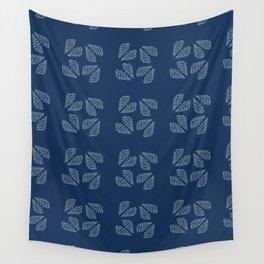 Traditional Indigo Blue Japanese Needlework Wall Tapestry
