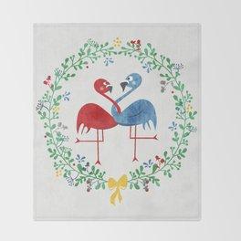 FlamingosTangled in Love Throw Blanket
