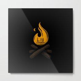 Camp & Bonfire Metal Print
