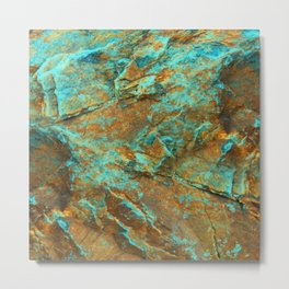 TURQUOISE MINERAL Metal Print