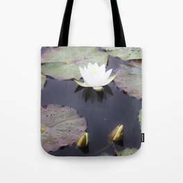 White water lily flower Tote Bag