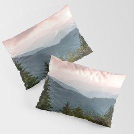 Great Smoky Mountain National Park Sunset Layers III - Nature Photography Pillow Sham