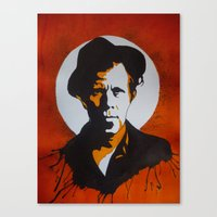 tom waits Canvas Prints featuring Tom Waits by will pacheco