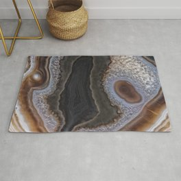 Chocolate colored Agate Crystals Rug