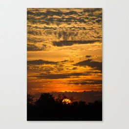 Cloudy Colored Skies pt.2 Canvas Print