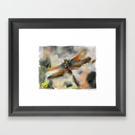 Dragonfly Garden - Framed Art Print