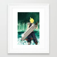 final fantasy Framed Art Prints featuring Final Fantasy by LynxArtCollection
