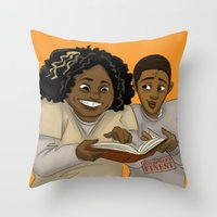 oitnb Throw Pillows featuring Taystee and Poussey OITNB by StephDere