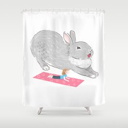 You know yoga too? Shower Curtain