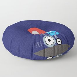 Funky Little Robots Floor Pillow