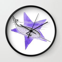 Narwhal Narwhal Wall Clock