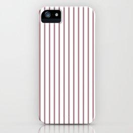 Princess Plum Pinstripe on White iPhone Case
