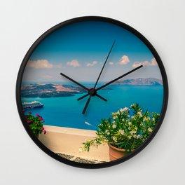 Santorini i Wall Clock