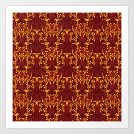 Celtic Loop Pattern Art Print