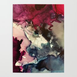 Dark Inks - Alcohol Ink Painting Poster