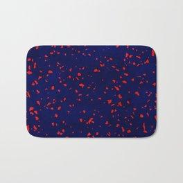 Terrazzo memphis blue galaxy orange Bath Mat