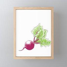 Beat Beet It Turnip Vegetable Vegetarian Gift Framed Mini Art Print