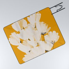 Flowers In Tangerine Picnic Blanket