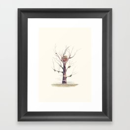 The Swamp Witch's Treehouse Framed Art Print