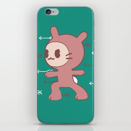 Yoga Warrior Bunny Illustration iPhone Skin