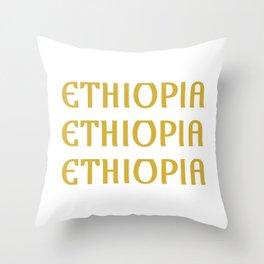 Habesha T  Ethiopia Eritrea Gift Idea graphic Throw Pillow