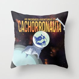 Cachorronauta Throw Pillow