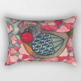 Blossom Birds Rectangular Pillow