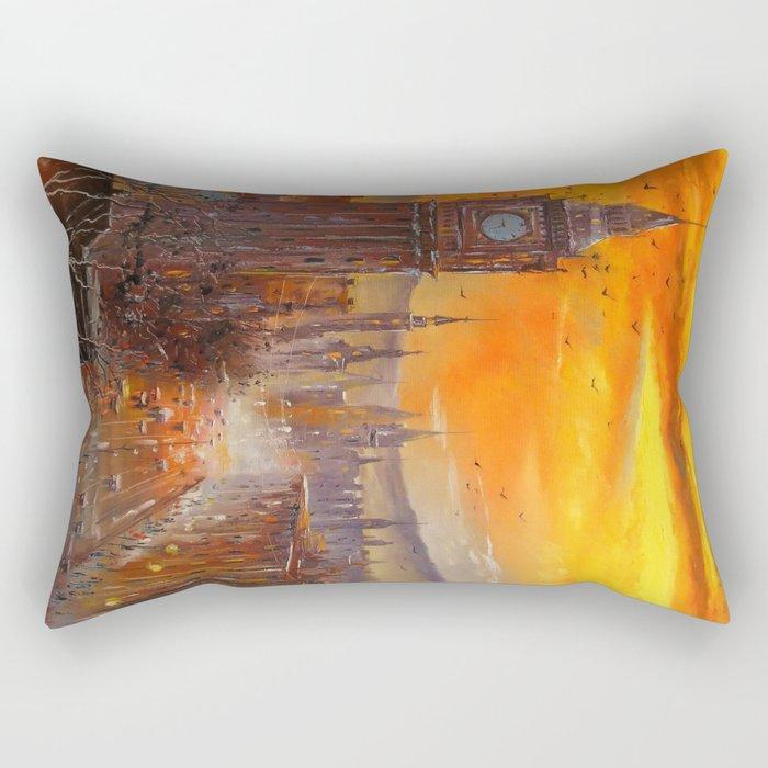 London Evening Rectangular Pillow