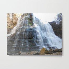 River Rock Falls Metal Print