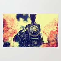thorin Area & Throw Rugs featuring Express Train by Thorin