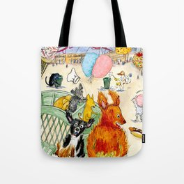 The Dogs Take Over Coney Island Tote Bag