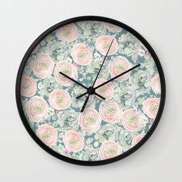 Flowers And Succulents #buyart #decor #society6 Wall Clock