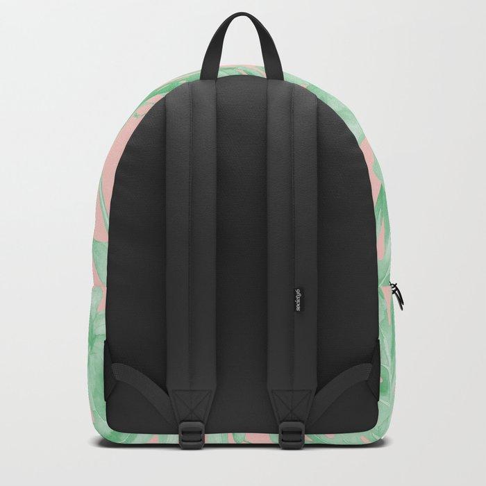 Island Life Seashell Pink + Light Green Backpack