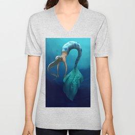 Mermaid with large scales Unisex V-Neck