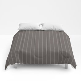Grey-brown striped Comforters