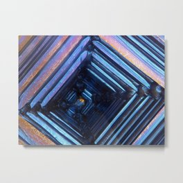 Bismuth metal Metal Print