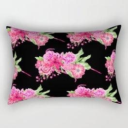 A FLORAL LOVE  (BLK) Rectangular Pillow