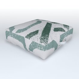 Shapes Of Love - Soft Pastel Pattern Outdoor Floor Cushion