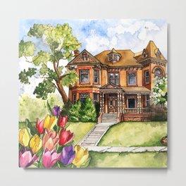 Queen Anne Mansion Metal Print