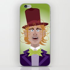 Willy Wonka from Charlie and the chocolate factory, played by the great Gene Wilder iPhone & iPod Skin