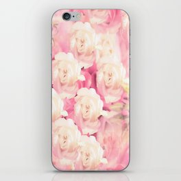 White and pink flowers in summer romance - vintage style iPhone Skin